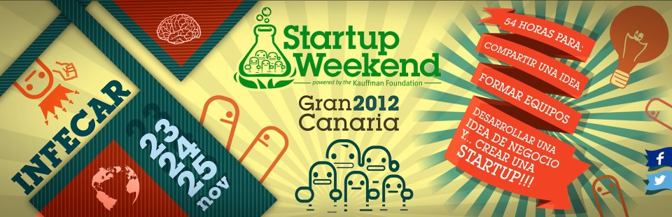 startup weekend Gran Canaria 2012 poster